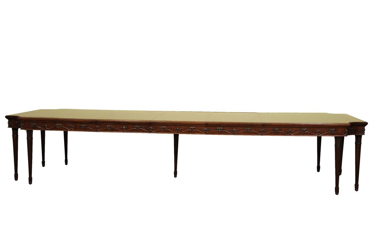 French style neoclassical 8 leg mahogany dining table with for Traditional dining table for 8