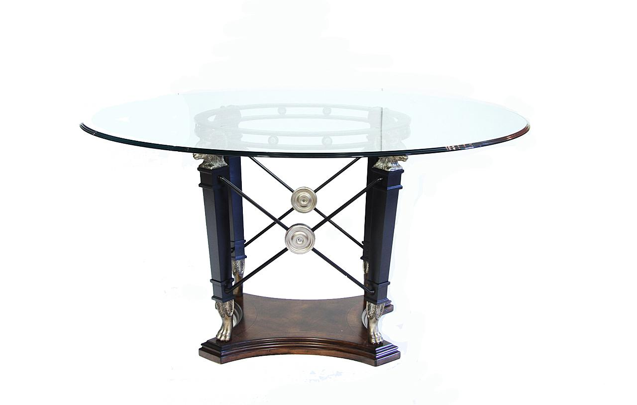 Modern Glass Top Table With Traditional Flair