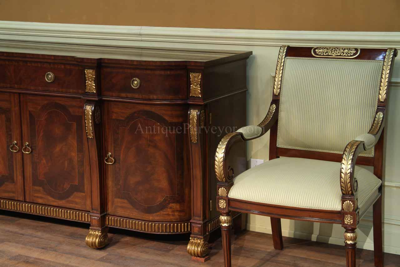 Gold Leaf Dining Chairs