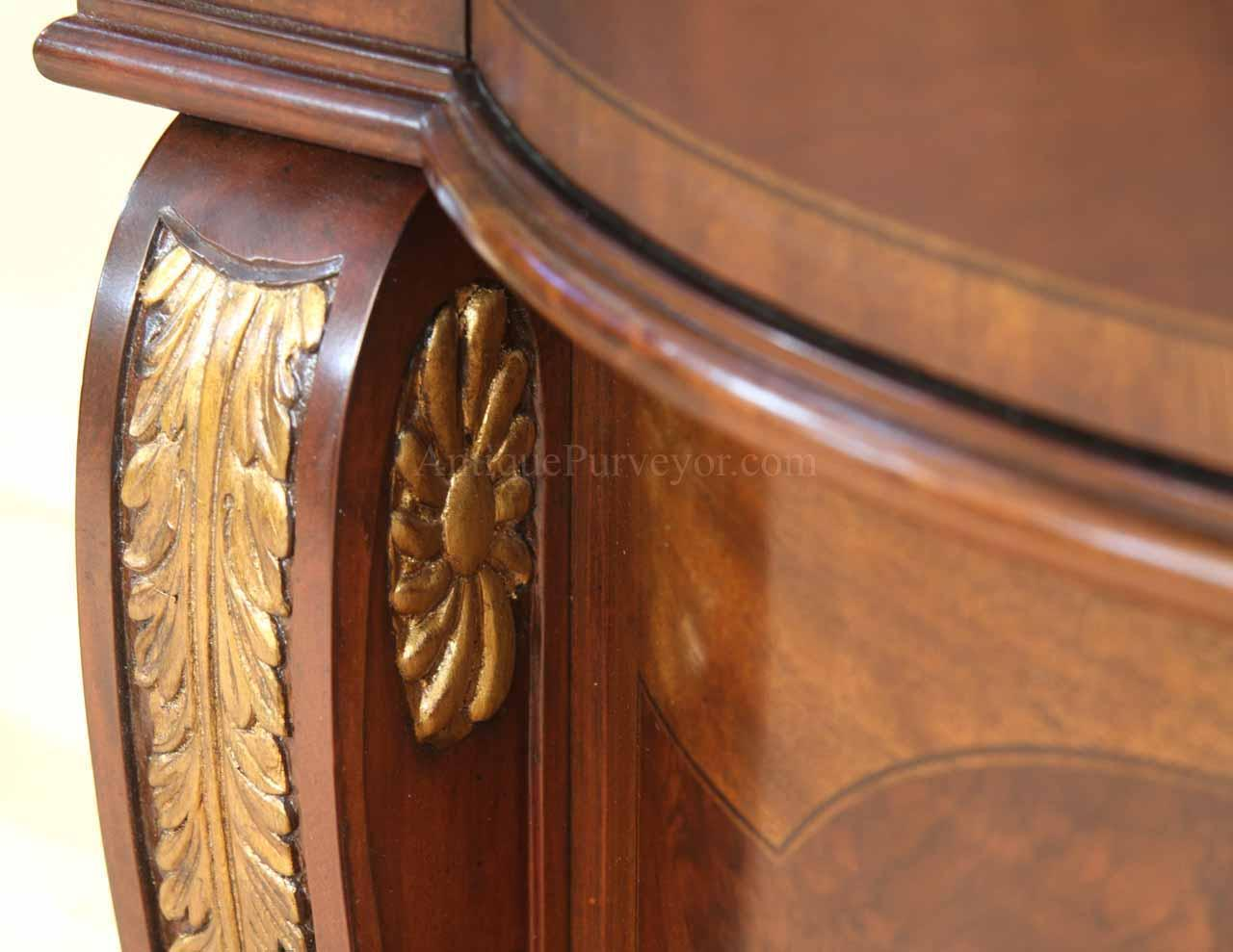 Mahogany Sideboard With Gold Leaf Accents For The Dining Room