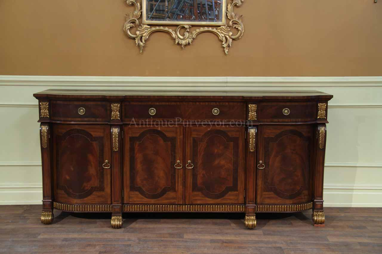 Mahogany sideboard with gold leaf accents for the dining room for Dining room buffet