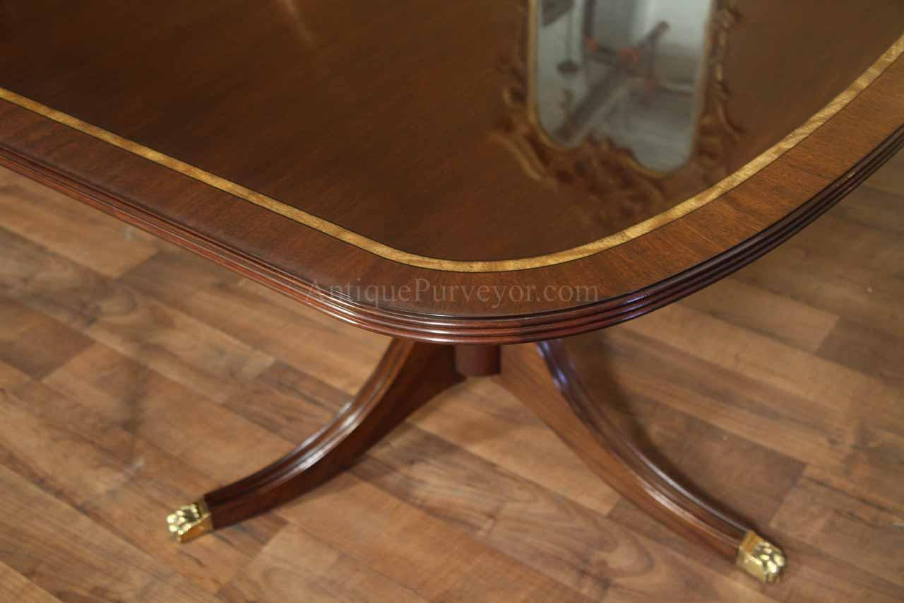 Henkel Harris Dining Table New Formal American Made Double Pedestal Dining Table With Inlay