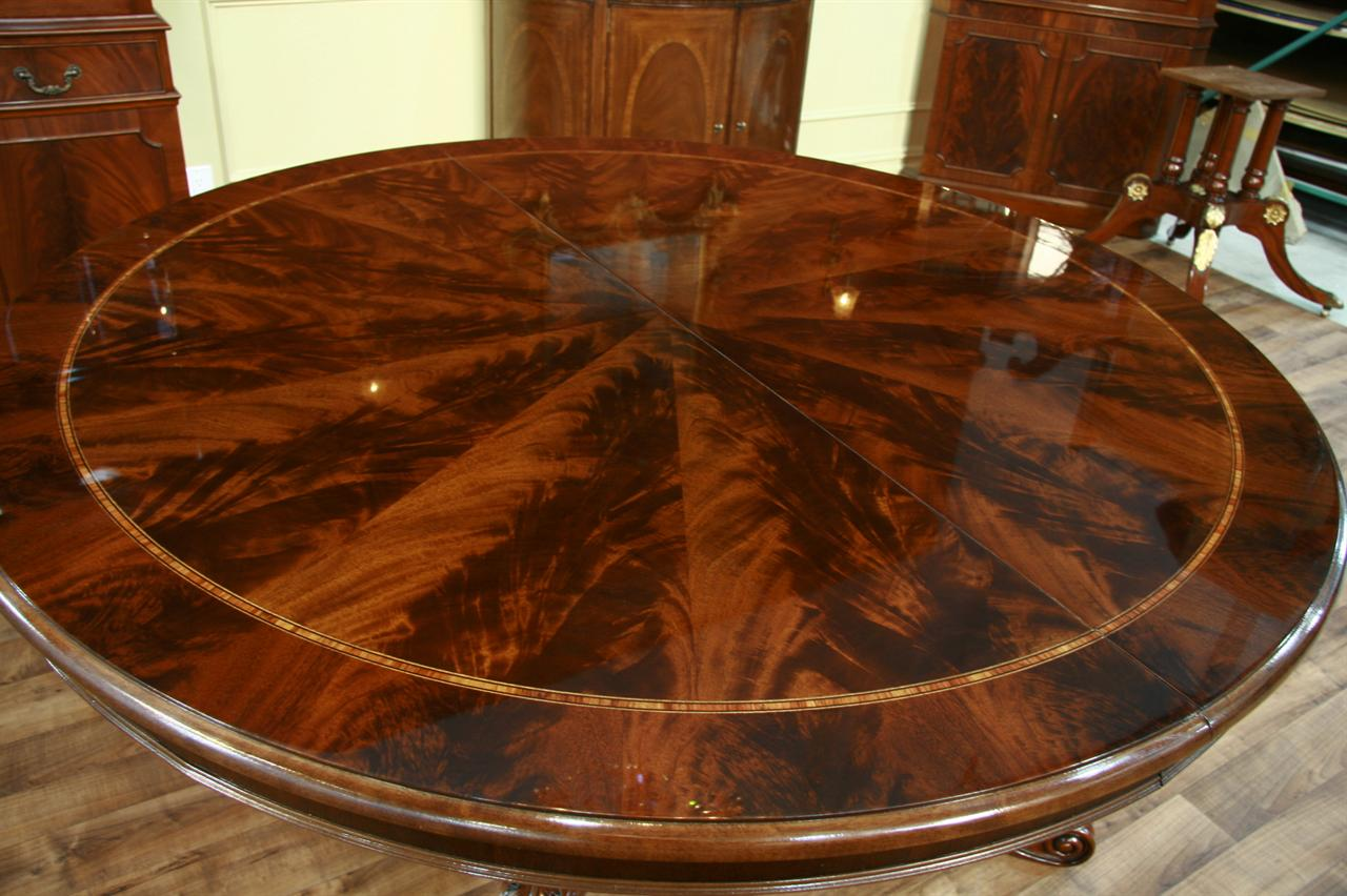 Dining Room Furniture High End Furniture Formal Dining  : henredon dining table natchez round to oval mahogany dining table 3718 from www.antiquepurveyor.com size 1280 x 852 jpeg 133kB