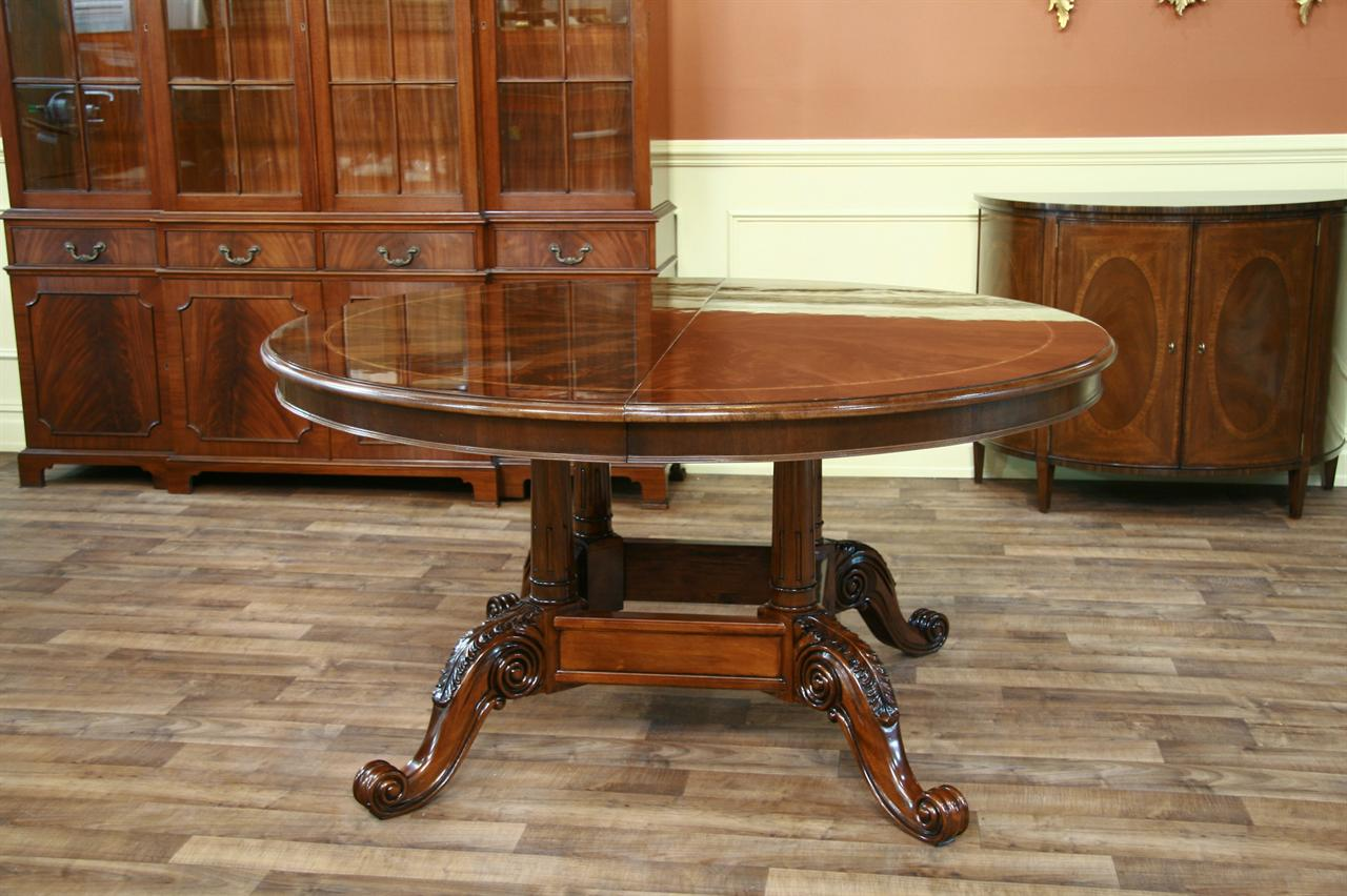 Dining Room Furniture High End Furniture Formal Dining  : henredon dining table natchez round to oval mahogany dining table 3720 from www.antiquepurveyor.com size 1280 x 852 jpeg 135kB