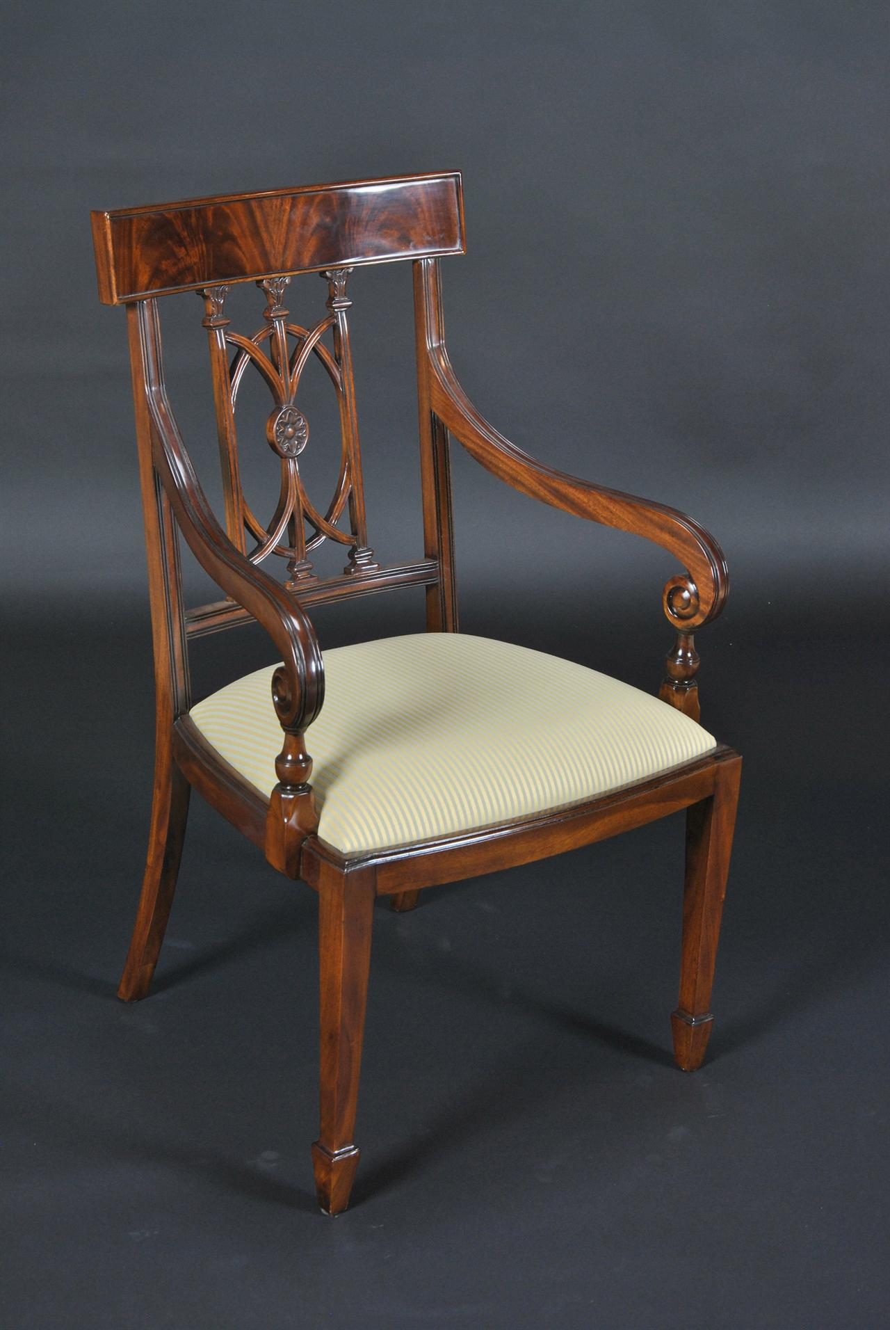Mahogany dining room chairs hepplewhite dining chairs ebay for Mahogany dining room chairs