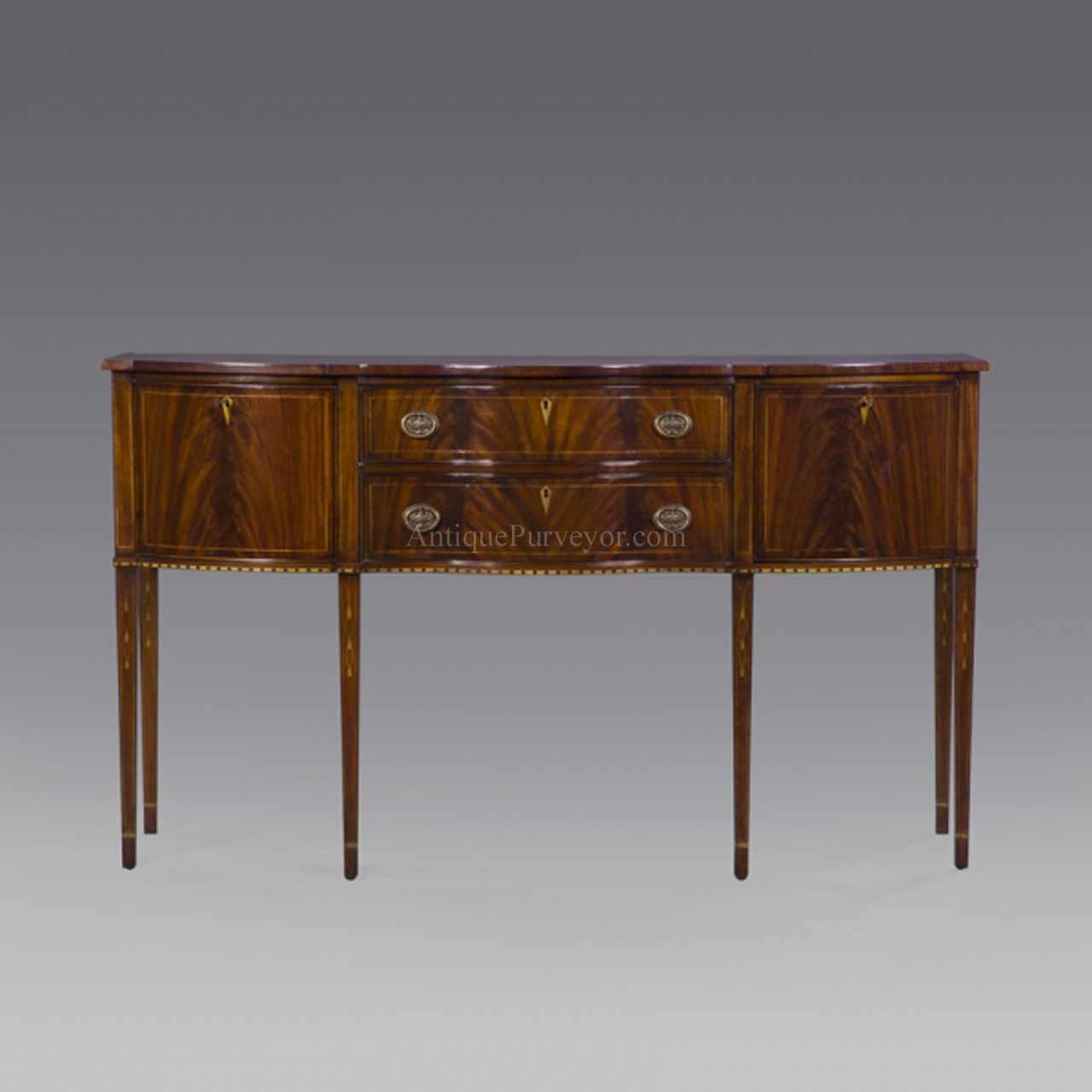 Formal hepplewhite style mahogany sideboard for the dining for Dining room sideboard