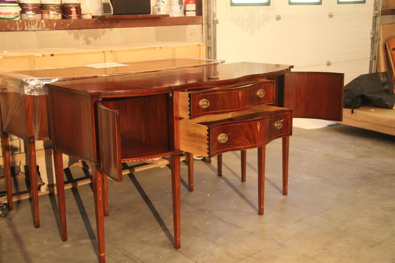 Formal Hepplewhite Style Mahogany Sideboard for the Dining Room