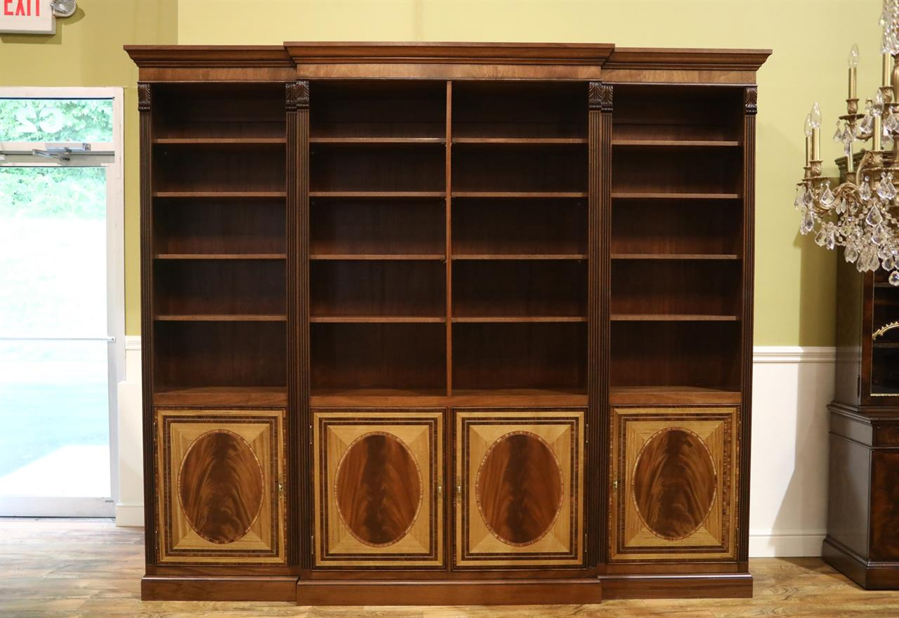 Traditional American made mahogany bookcase