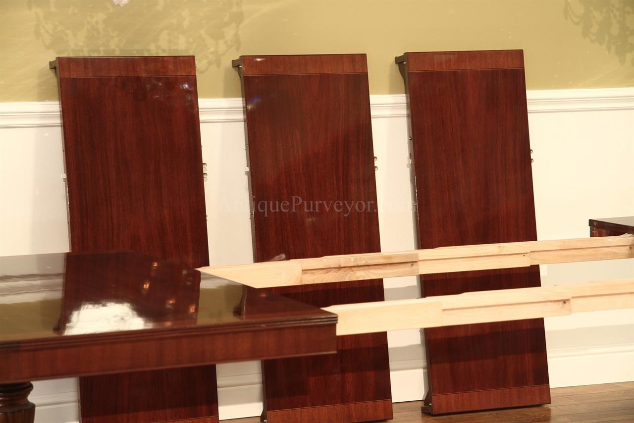 American Made Traditional Double Pedestal Mahogany Dining