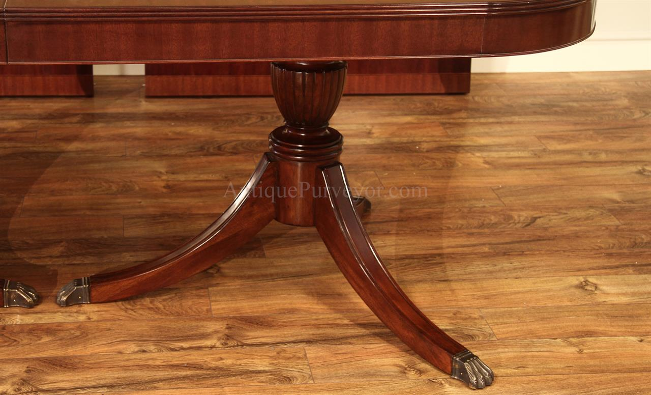 American Made Traditional Double Pedestal Mahogany Dining  : high end american made custom double pedestal mahogany dining table 15507 from www.antiquepurveyor.com size 1280 x 776 jpeg 126kB