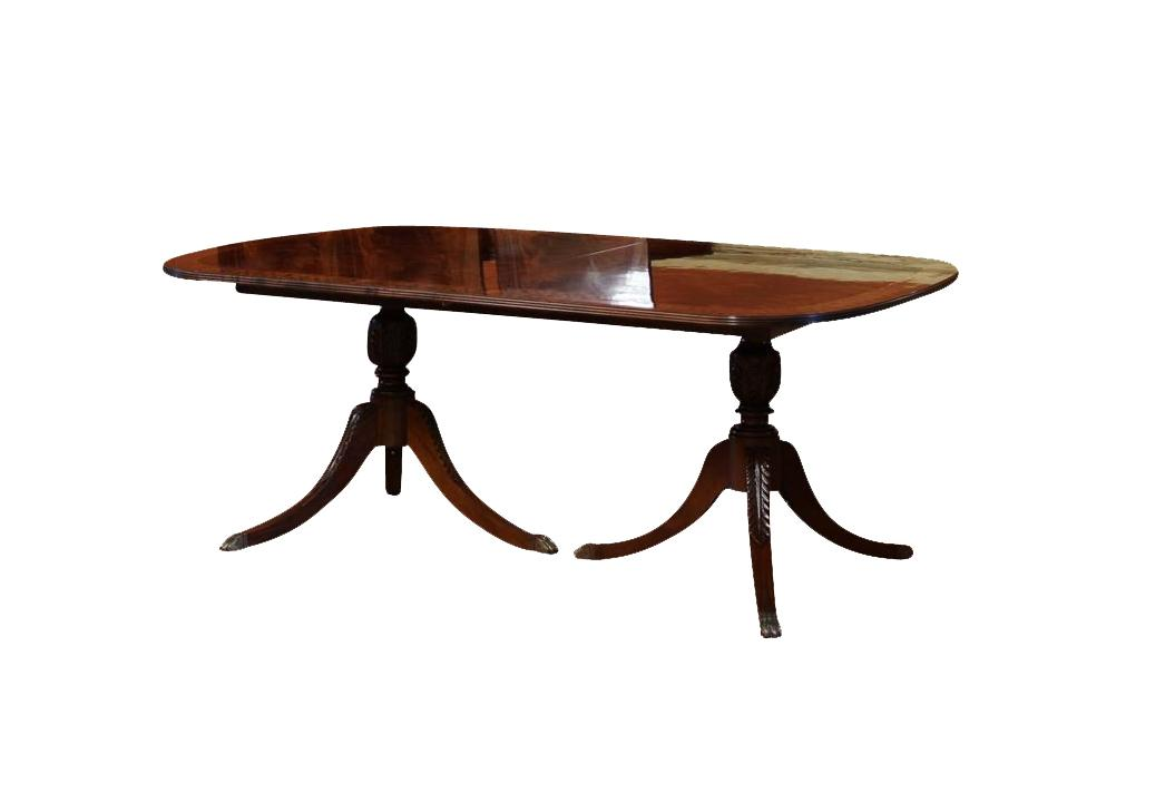 Long mahogany dining room table antique style new high end for 12 foot long dining room table