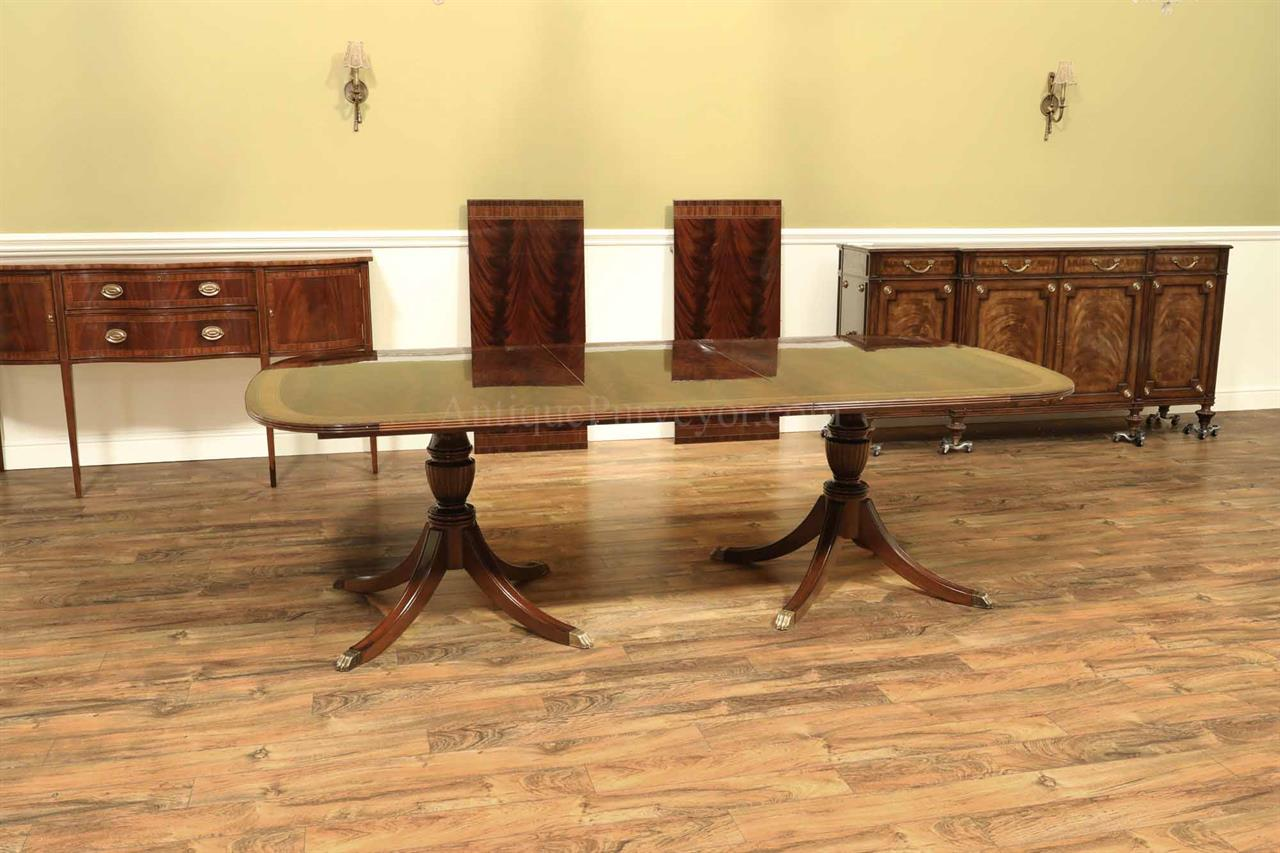 High End Dining Table, Federal Style,12 Foot Mahogany Dining Table