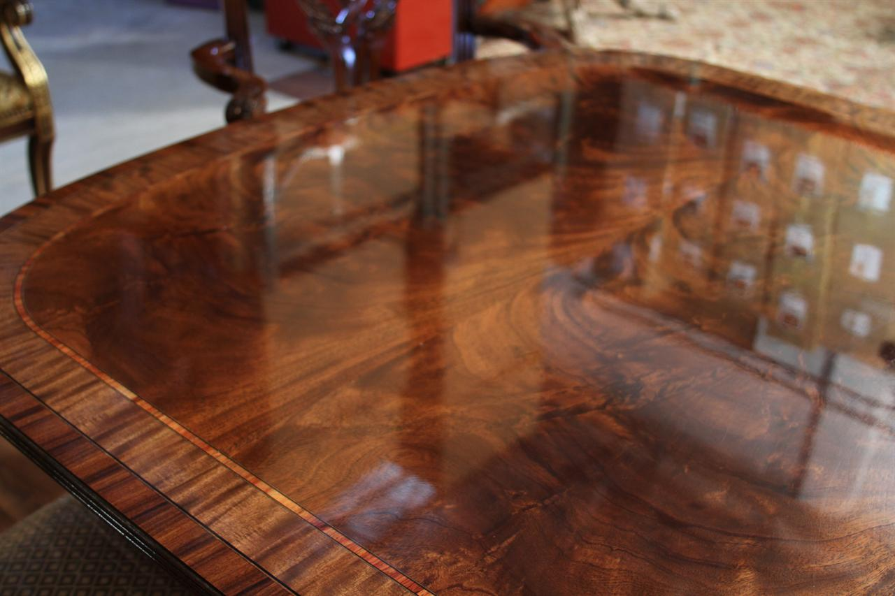 High End Dining Table Federal Style 12 Foot Mahogany