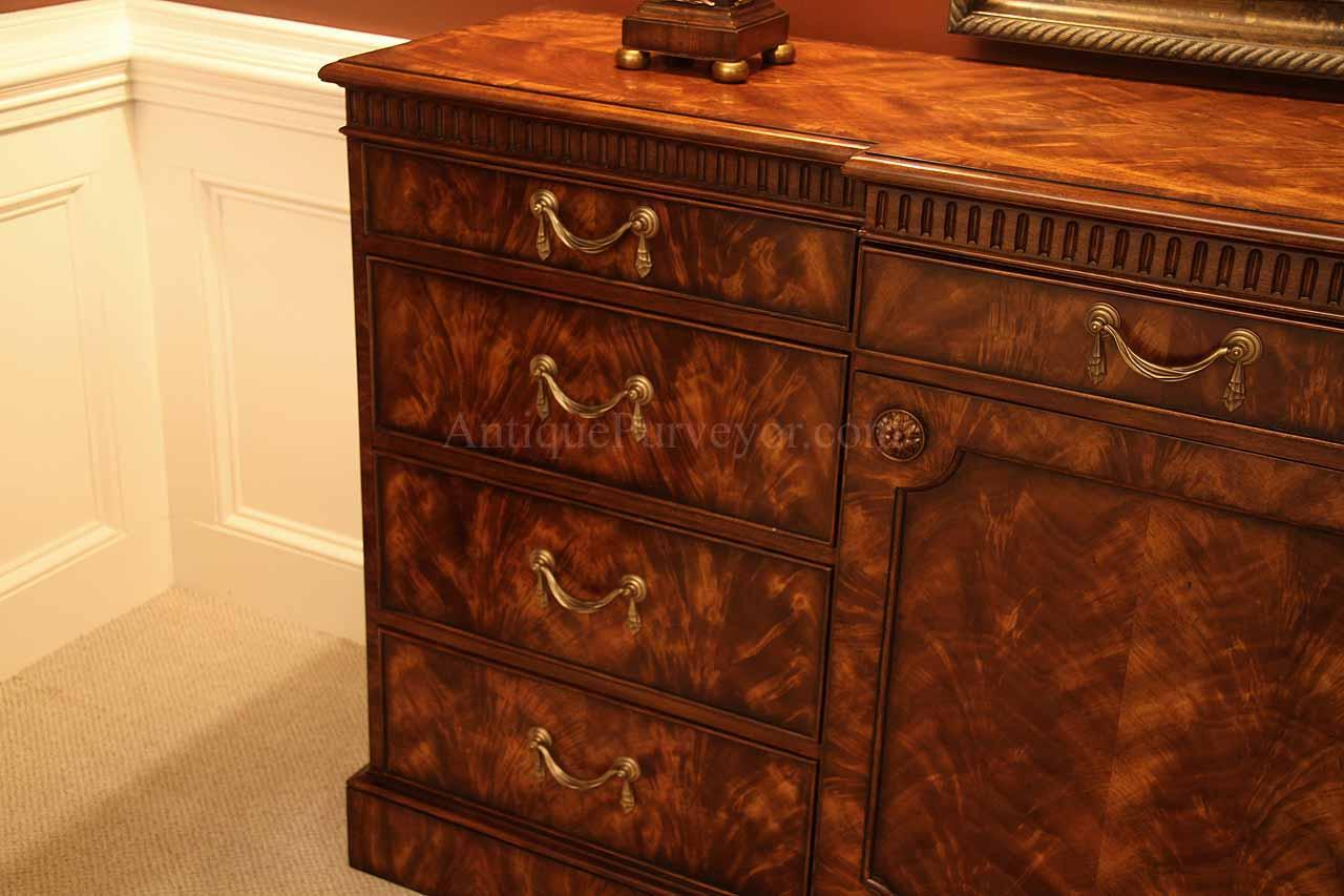 antique mahogany dining room sideboard a colonial replica. Black Bedroom Furniture Sets. Home Design Ideas