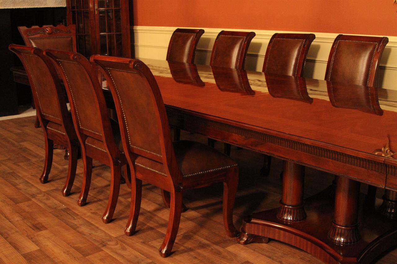 mahogany dining table designer furniture high end extra large. Black Bedroom Furniture Sets. Home Design Ideas