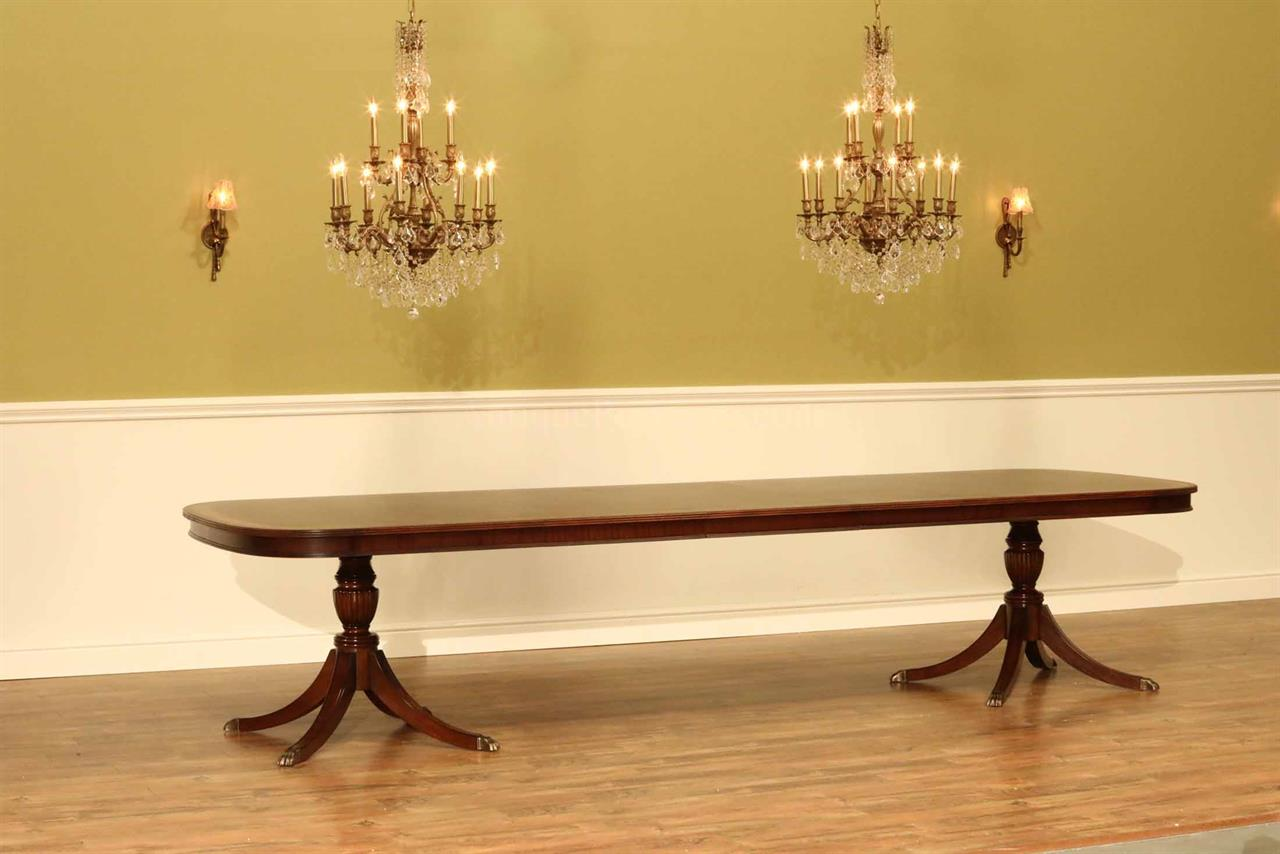 Mahogany Dining Table Seats 12