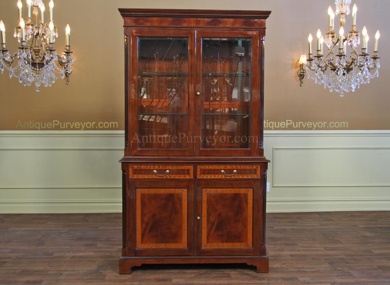 High end Mahogany china cabinet | Two door china cabinet