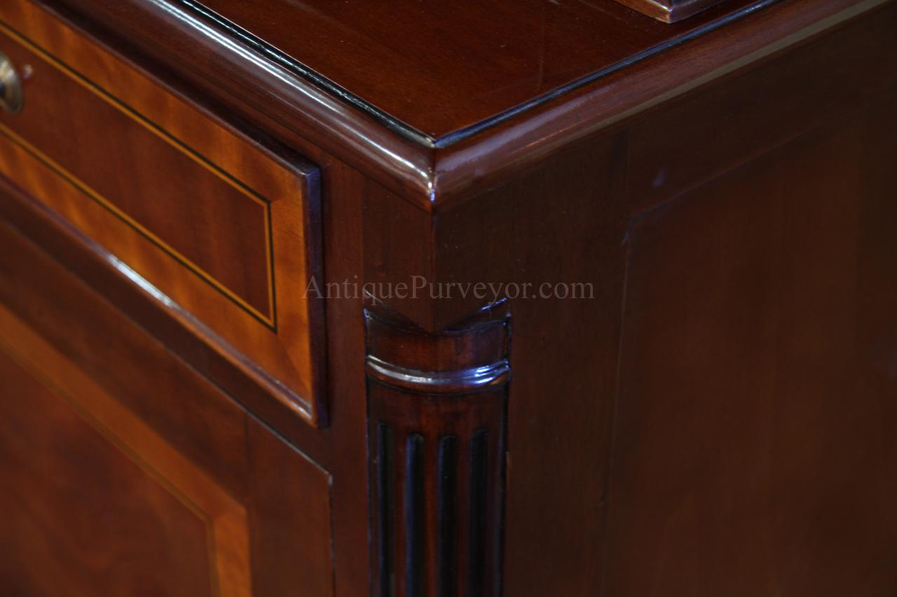 High End Mahogany China Cabinet Two Door China Cabinet