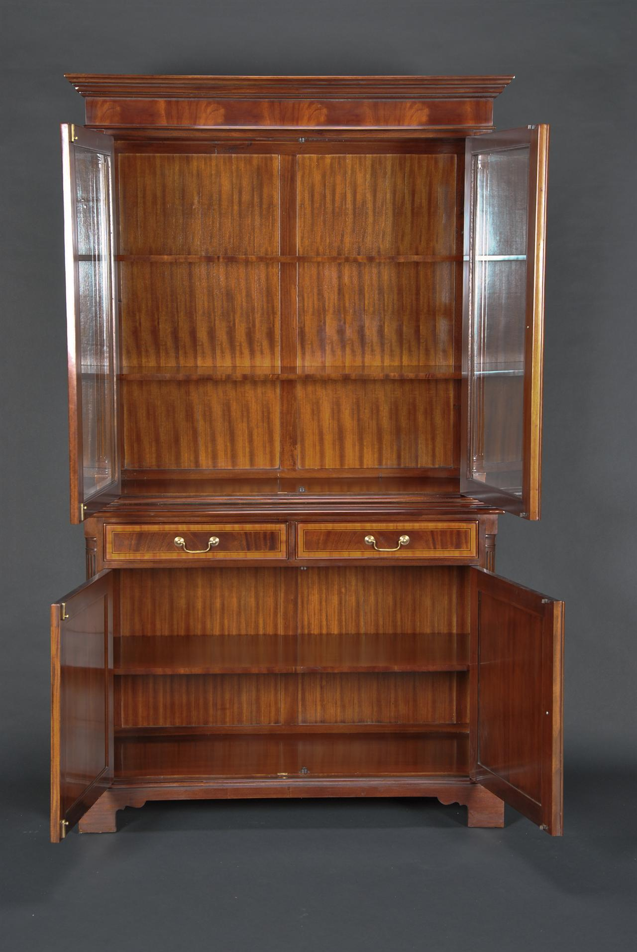 High End Mahogany Two Door China Cabinet