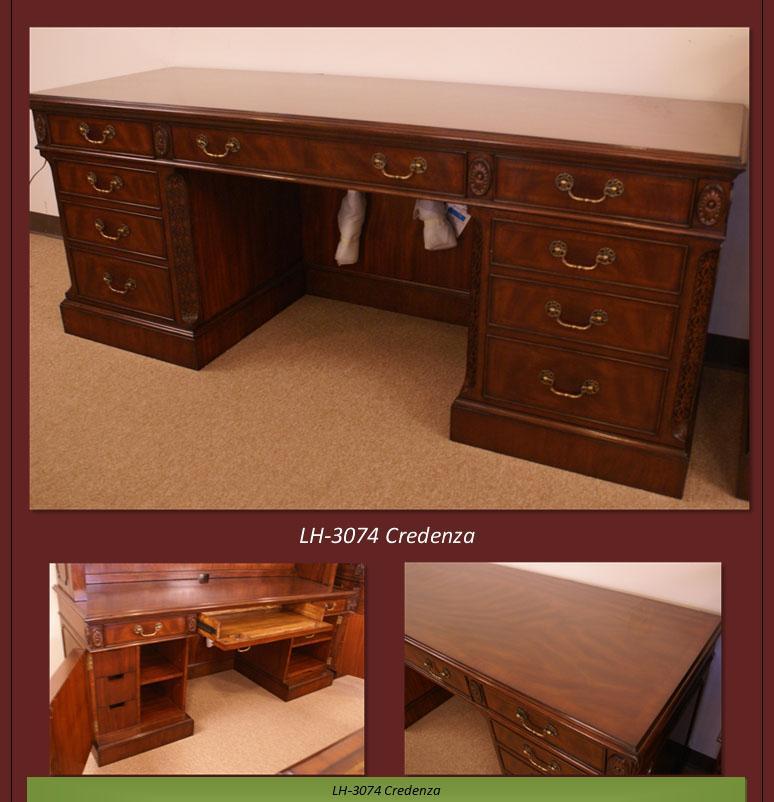 Mahogany Credenza With Oak Drawers