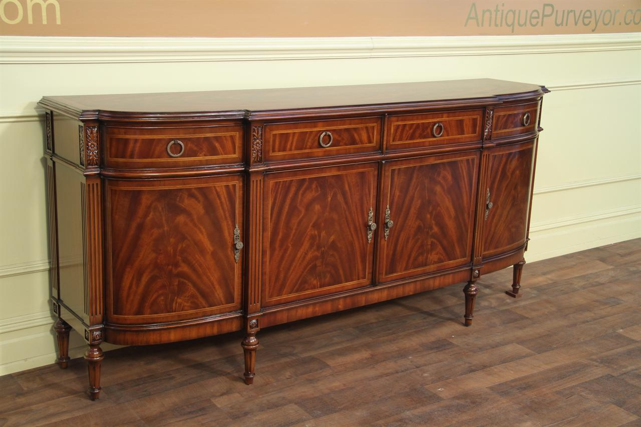 Gentil High End Mahogany Sideboard With Inlaid Door Panels