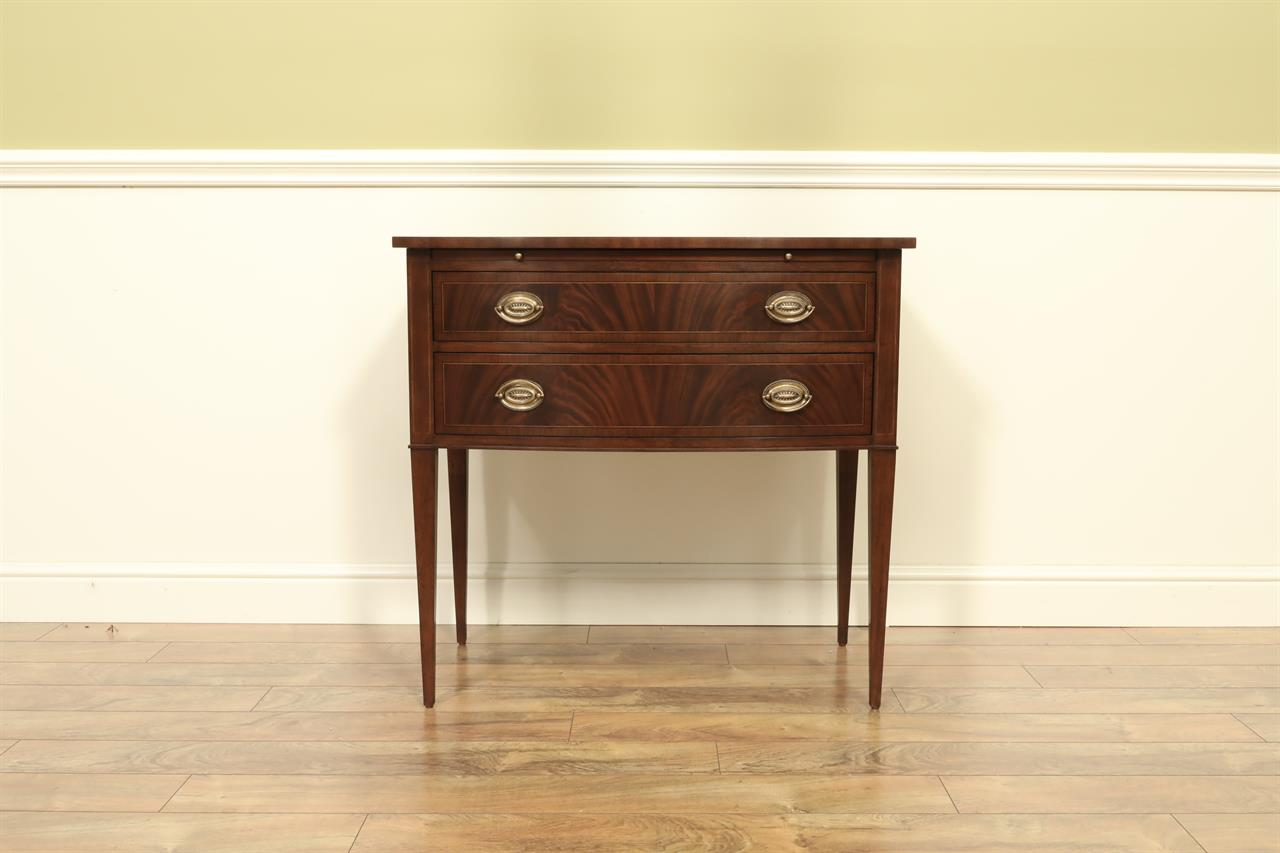 High End, Oak Drawers, Hepplewhite Style, 2 Drawer Buffet
