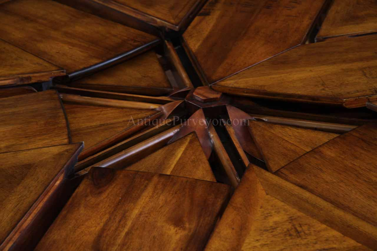 Rustic Extra Solid Walnut Dining Table Opens to 100 inches seats 12