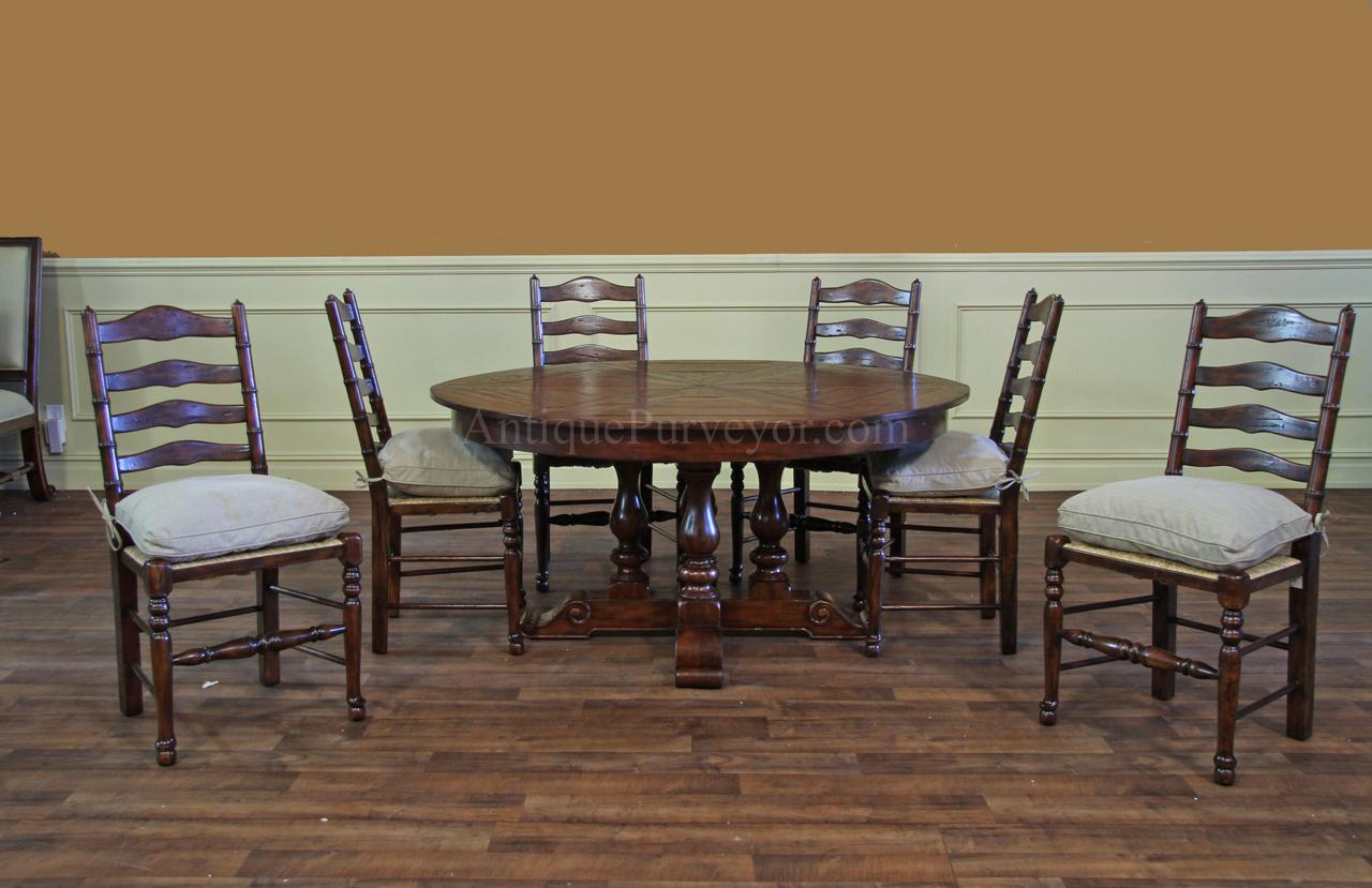 62-78 Jupe Table for Sale-Round to Round Country Dining Table