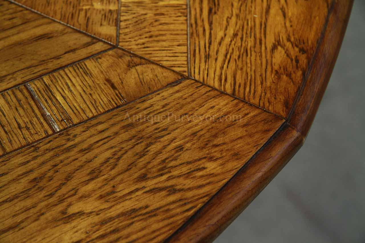 64 Inch To 84 Inch Round Solid Oak Dining Room Table With Hidden Leaves Ebay