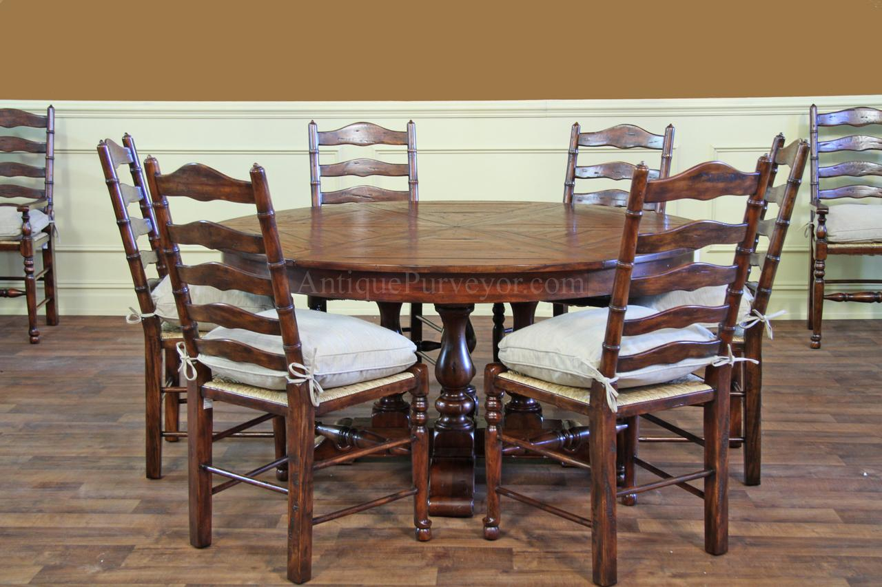 Ladder back chairs with cushions - Rush Seats With Upholstered Seat Cushions And Pillows Rustic Ladder Back Dining Chairs