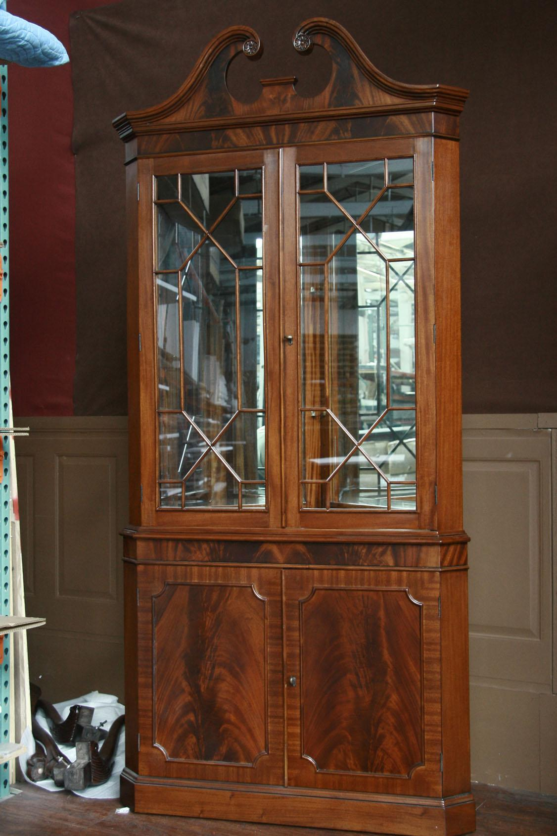 Corner china cabinet or corner hutch for the dining room for Dining room armoire