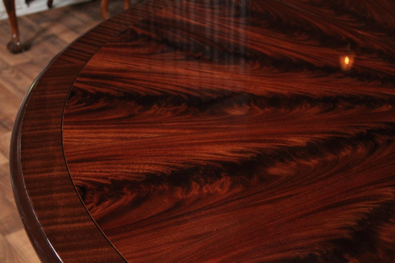 High End Large Round Mahogany Dining Table Dining Room Table EBay