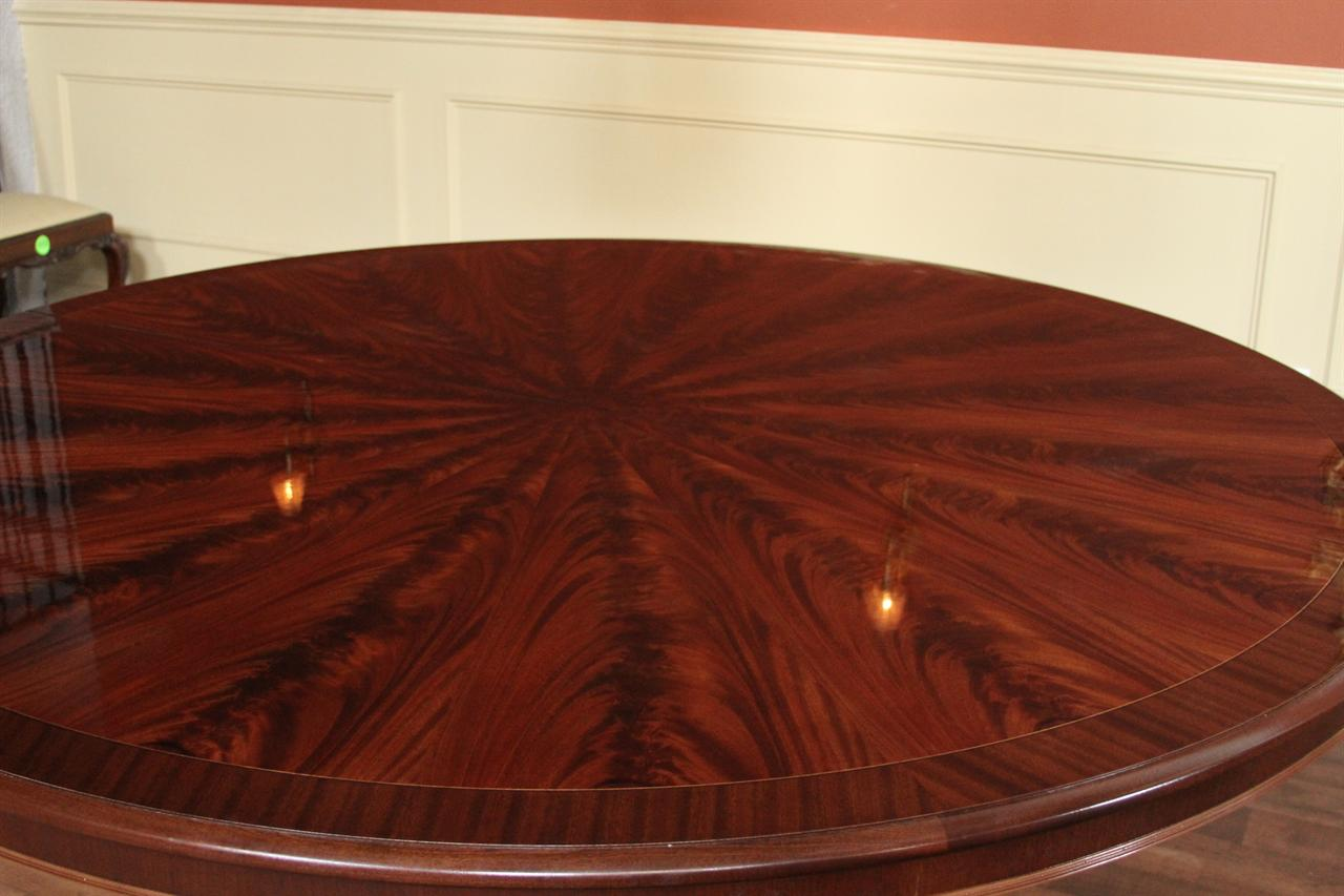 Large 84 inch round mahogany dining table round table for Large round dining table