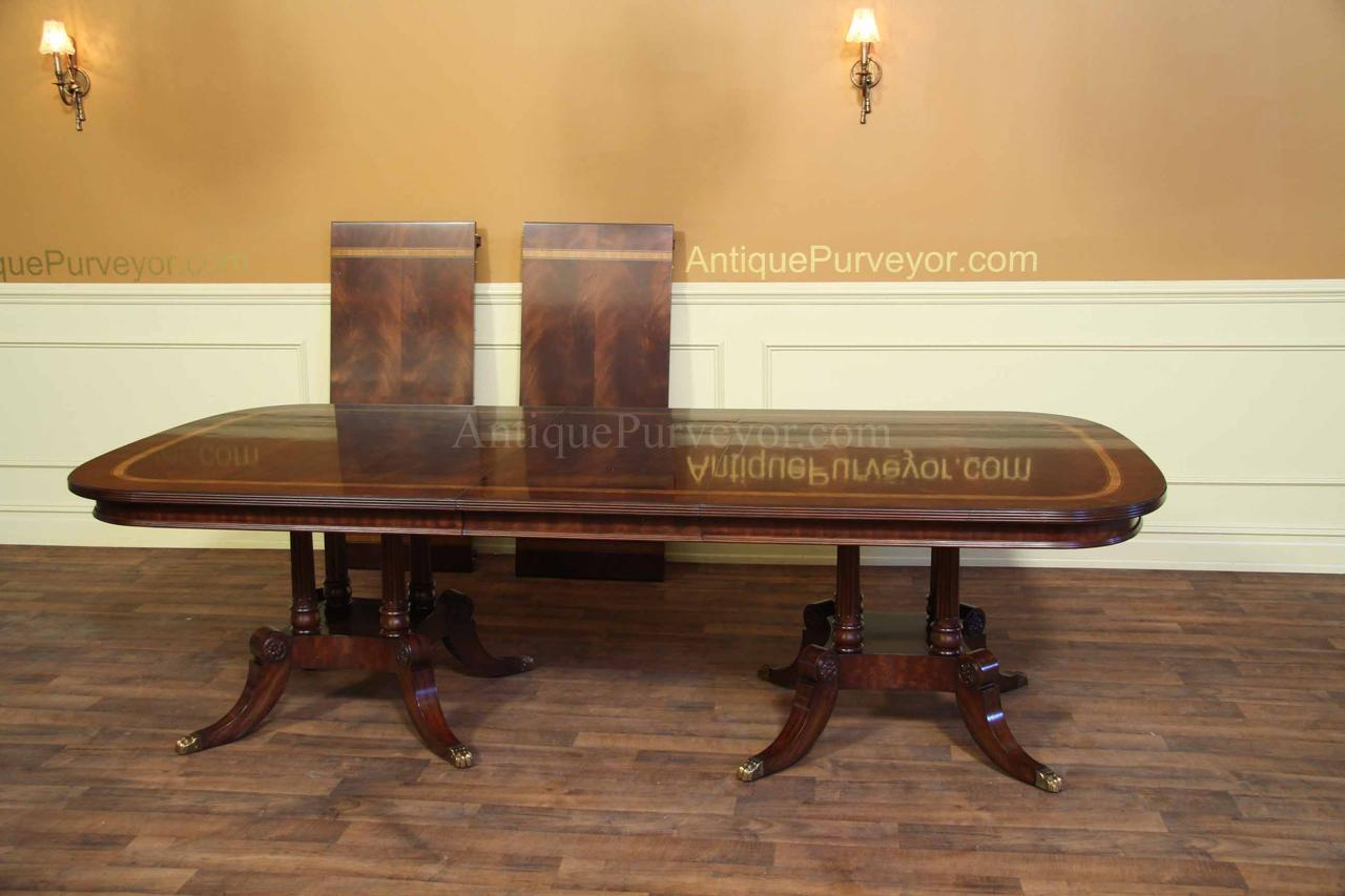 Large and Wide Mahogany Dining Table Seats 1416 People eBay