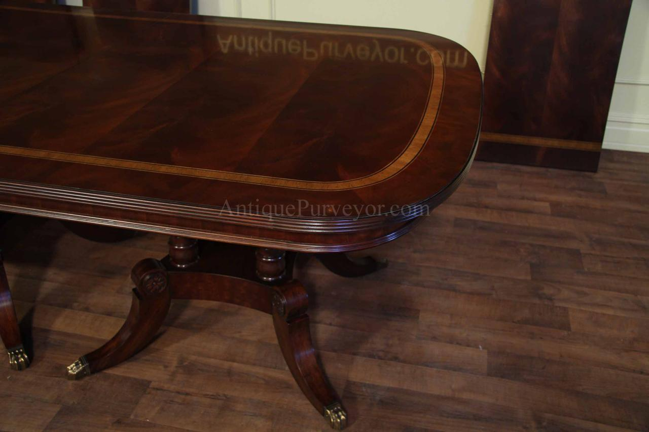Flame mahogany for Dining room tables seat 16