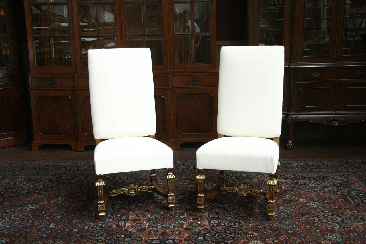 Large Fully Uphostered Dining Room Side Chairs