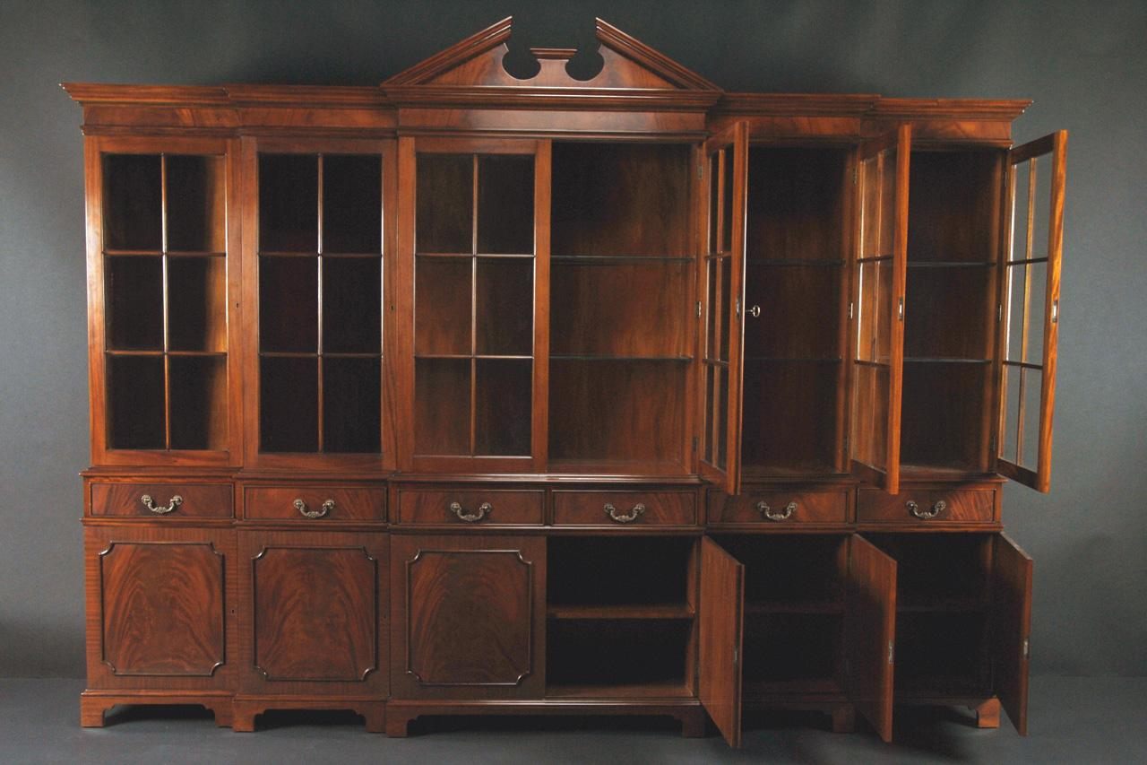 Large Mahogany China Cabinet | Large Breakfront | Extra Large ...