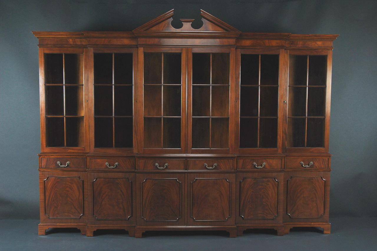 Exceptionnel Large Mahogany China Cabinet | Large Breakfront | Extra Large China