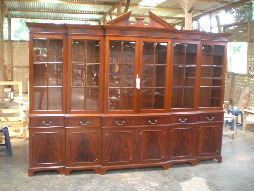 Large Mahogany China Cabinet | Large Breakfront | Extra Large China Cabinet  | Large Hutch