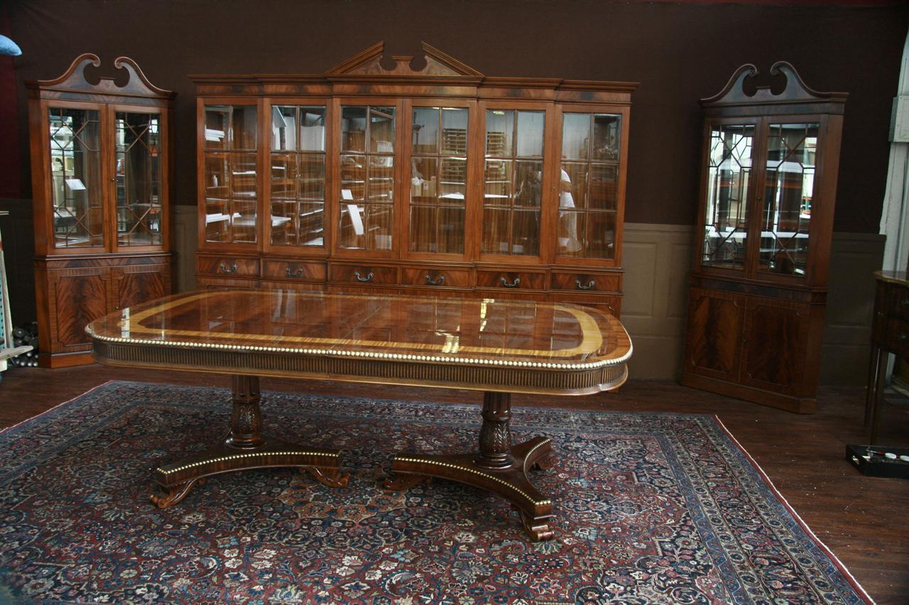 Super 10 Foot Long China Caibet Hutch For Grand Traditional Formal Dining Room