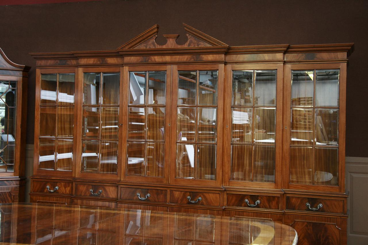 Ordinaire This Extra Large China Cabinet Has Beautiful Beveled Glass Windows Which  Will Really Show Off China