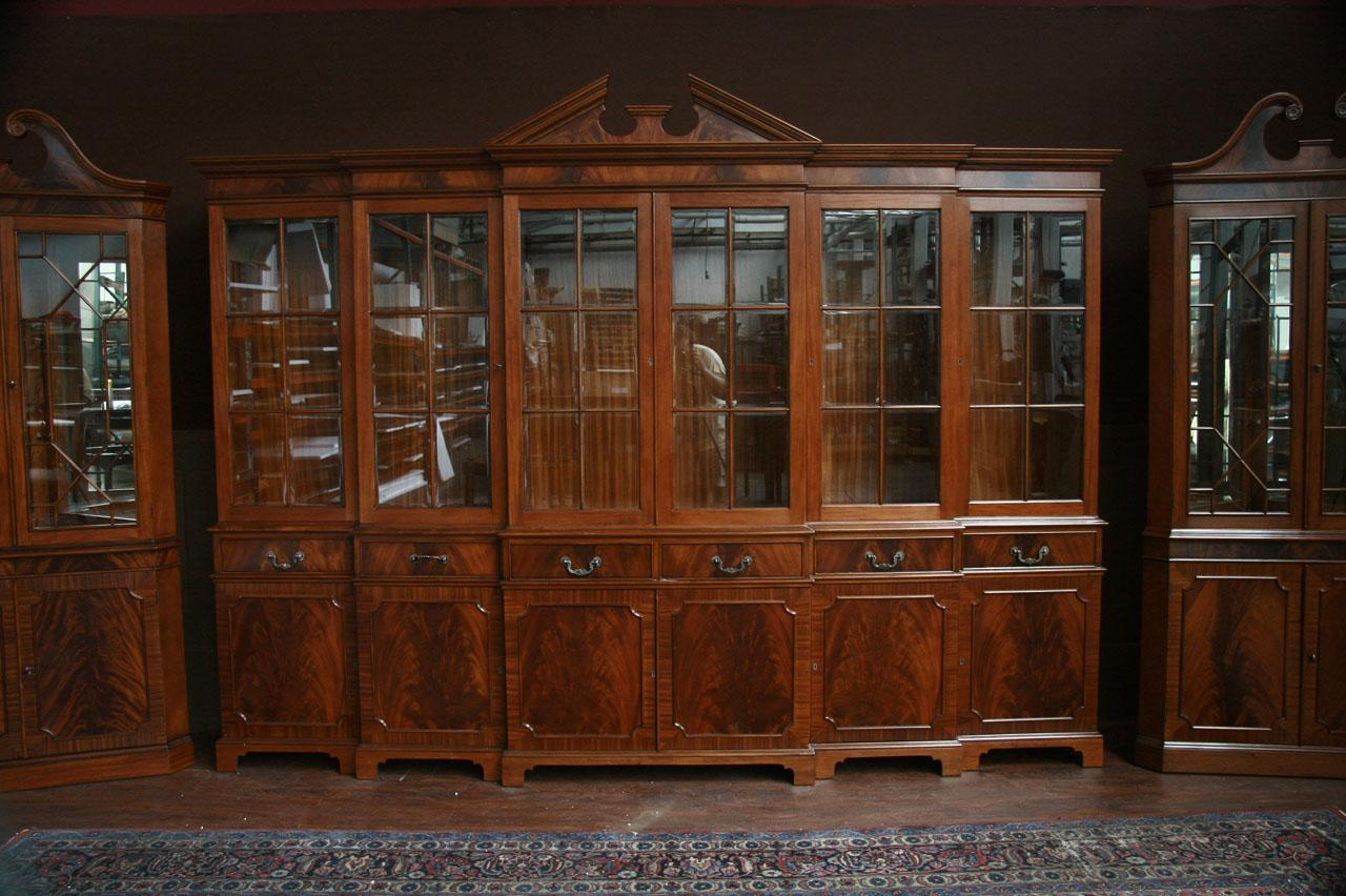 Delicieux Large Mahogany China Cabinet | Large Breakfront | Extra Large China