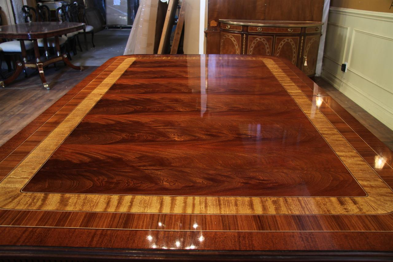 large mahogany dining room table regency transitional american