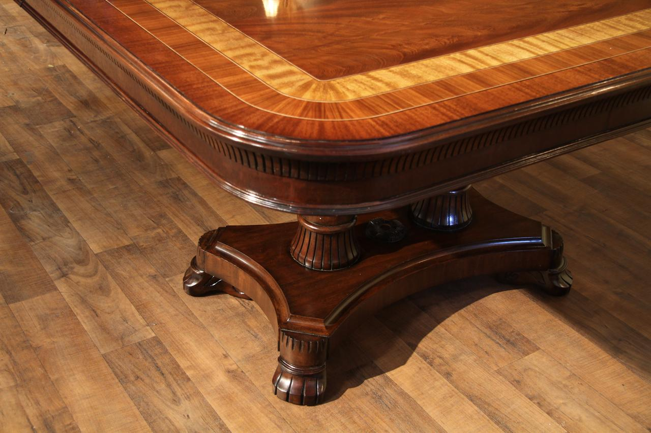 details about large mahogany dining room table regency transitional