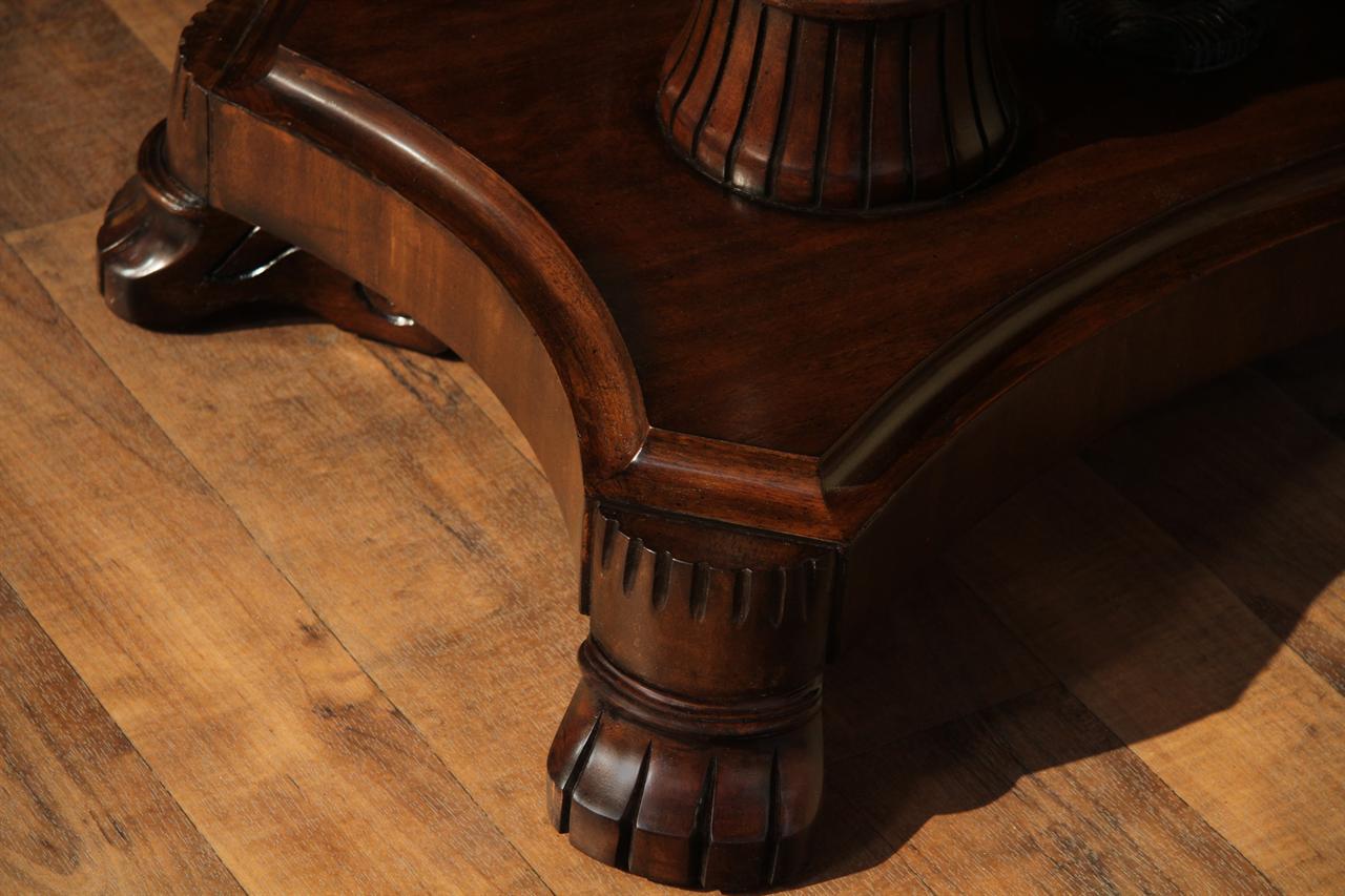 large mahogany dining room table regency transitional american