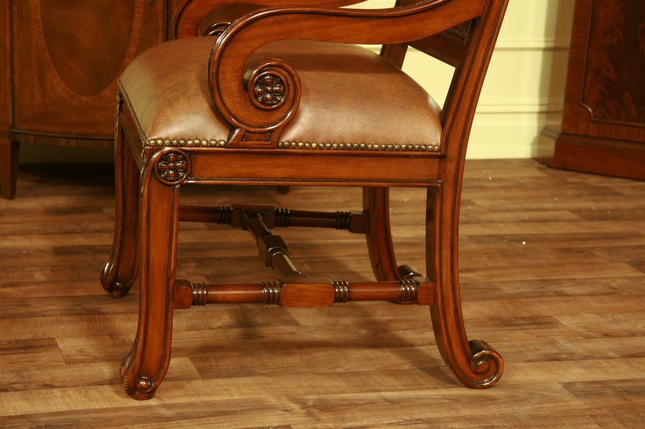 mahogany dining chairs leather upholstered mahogany dining chairs