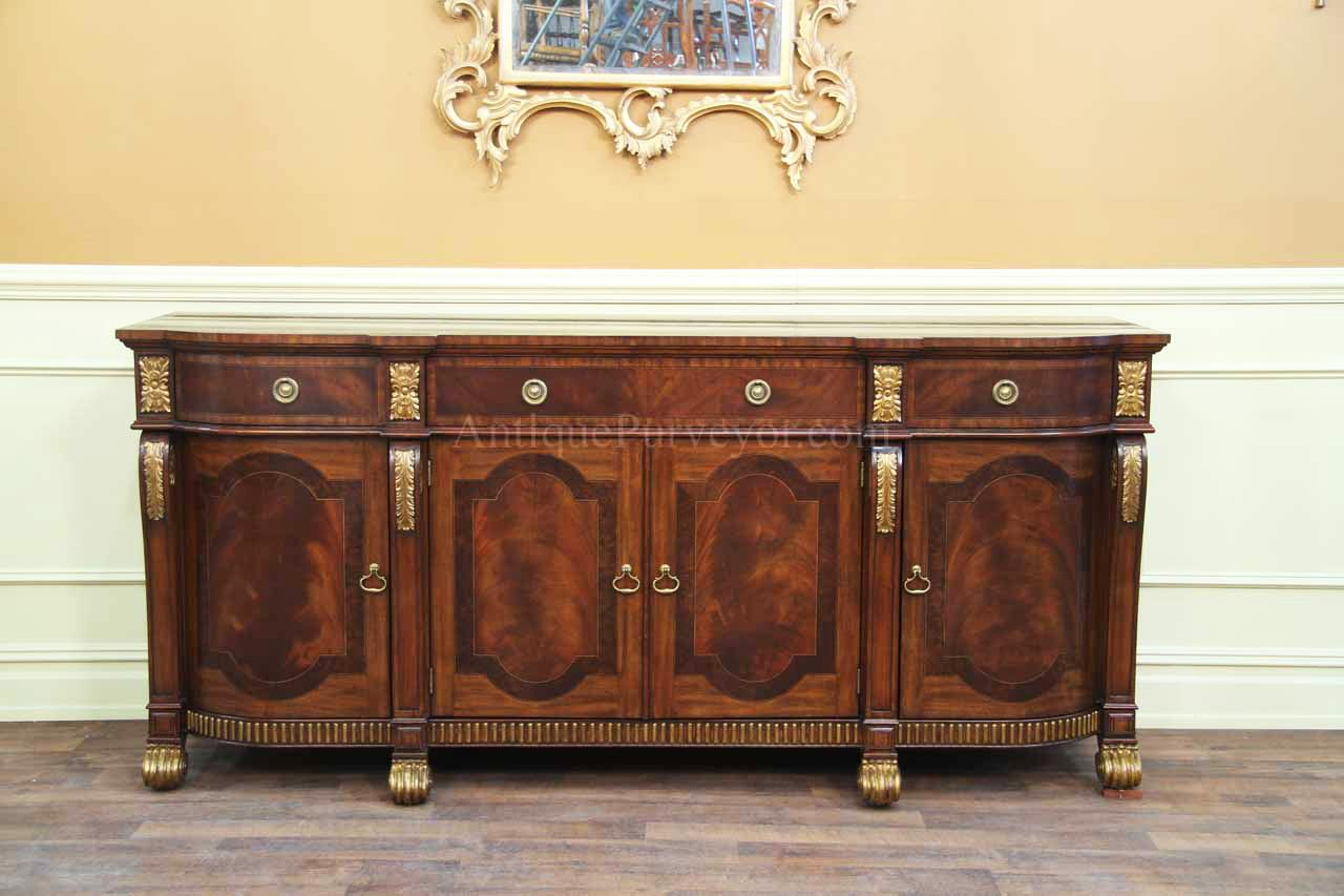 Mahogany sideboard with gold leaf accents for the dining room for Bahut table