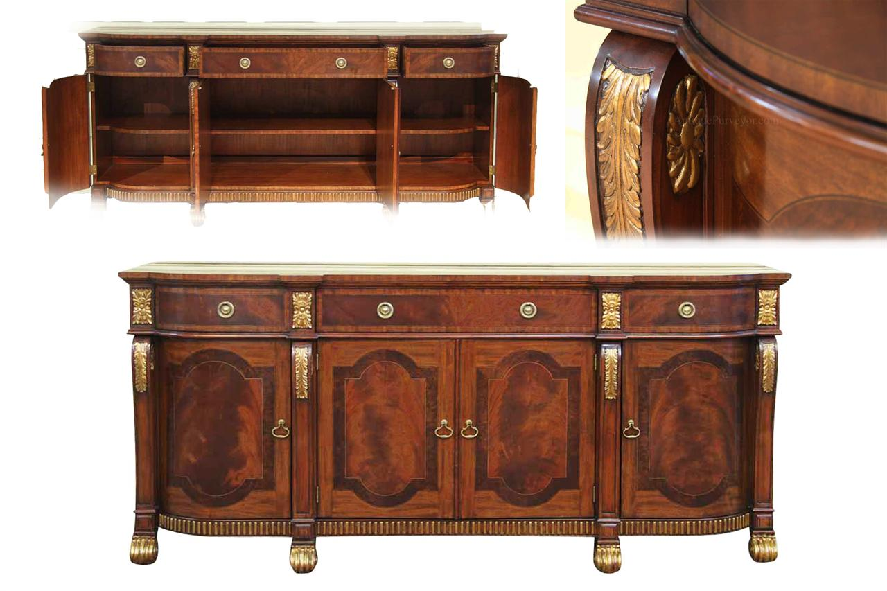 mahogany sideboard with gold leaf accents for the dining room. Black Bedroom Furniture Sets. Home Design Ideas