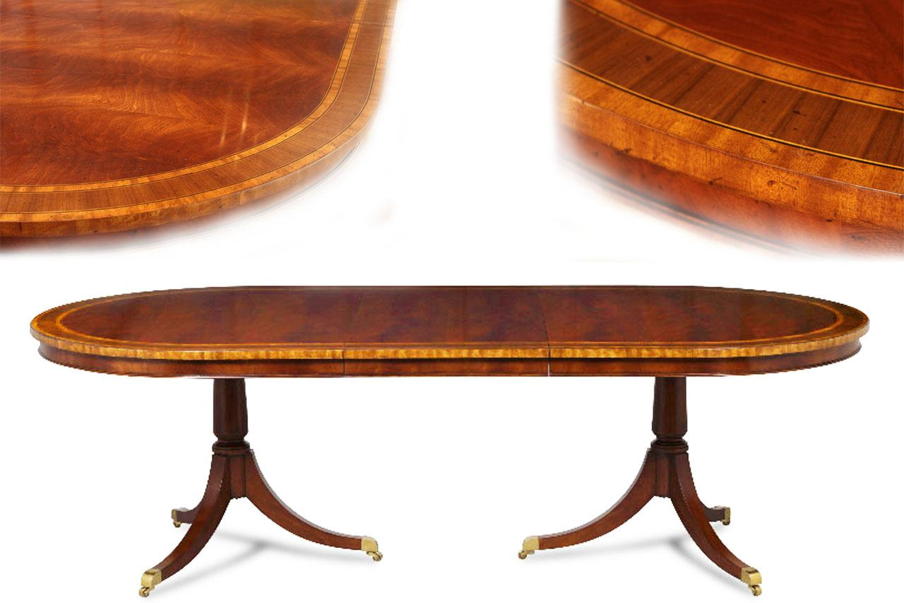Ordinaire Oval Mahogany Dining Table For 10 To 12 People