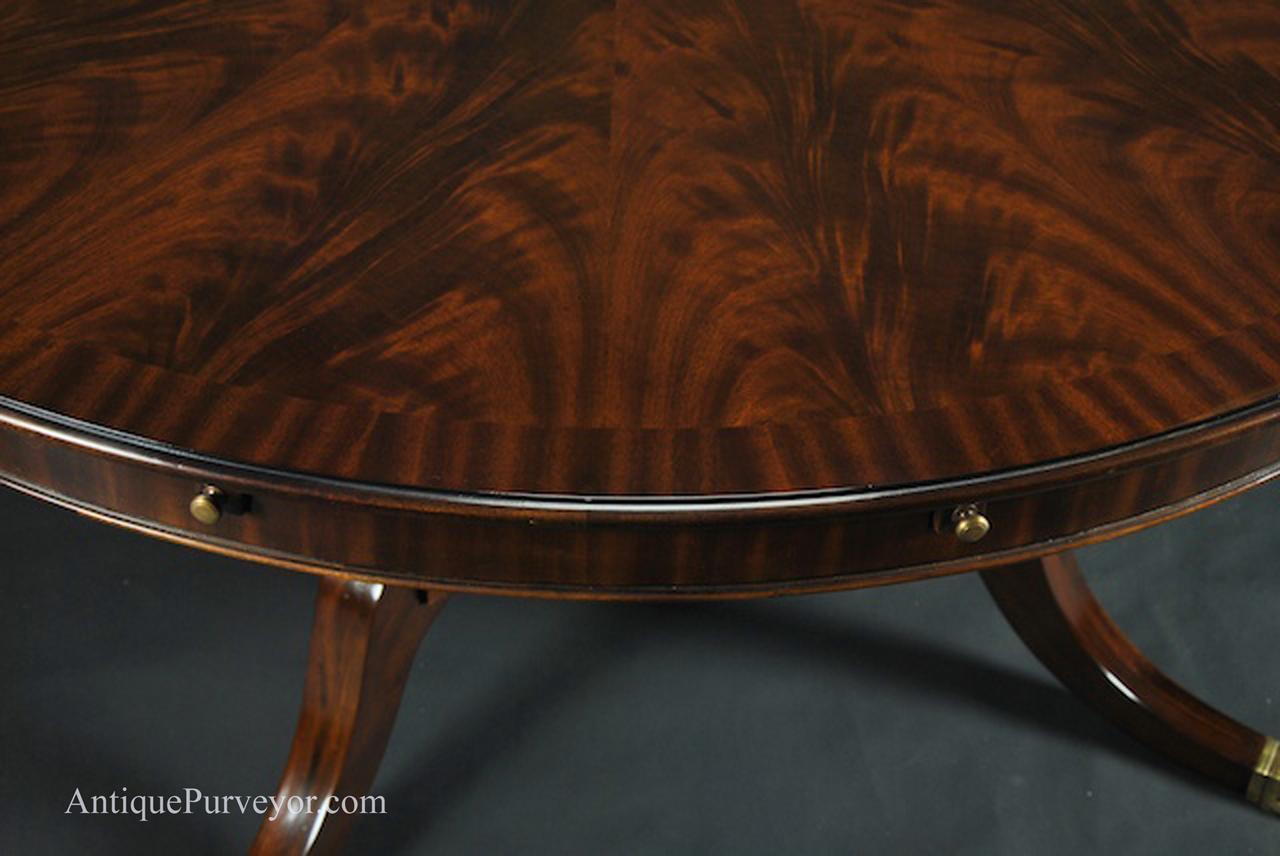 Large Round Dining Room Table Seats 6-10 People ~ Hepplewhite